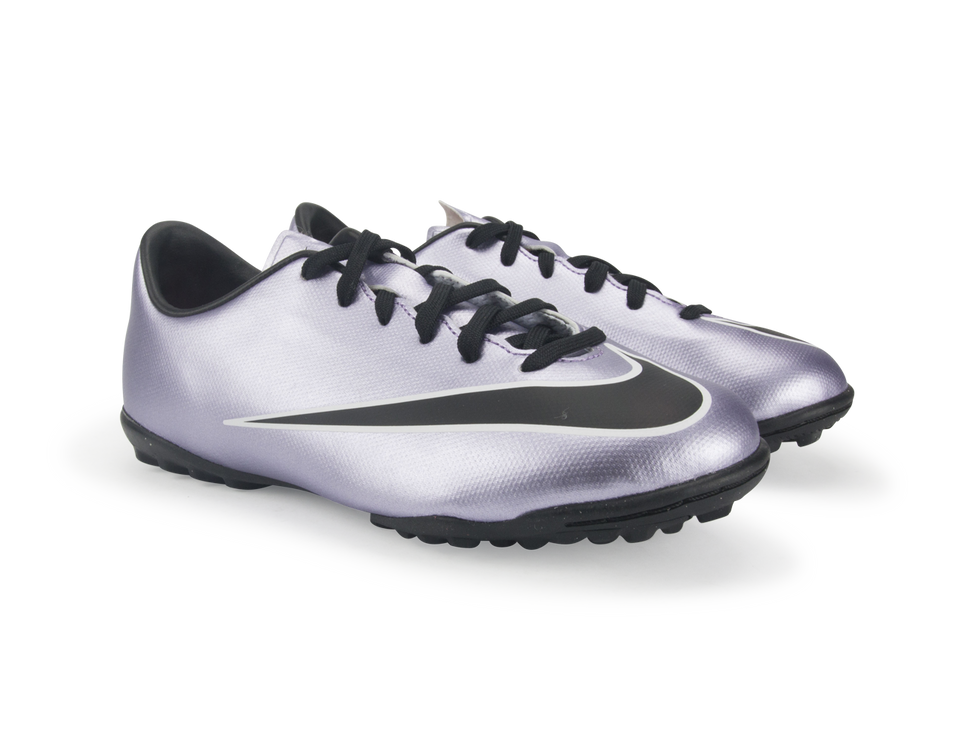 Nike Kids Mercurial Victory V Turf Soccer Shoes Urban Lilac/Black/Bright Mango/White