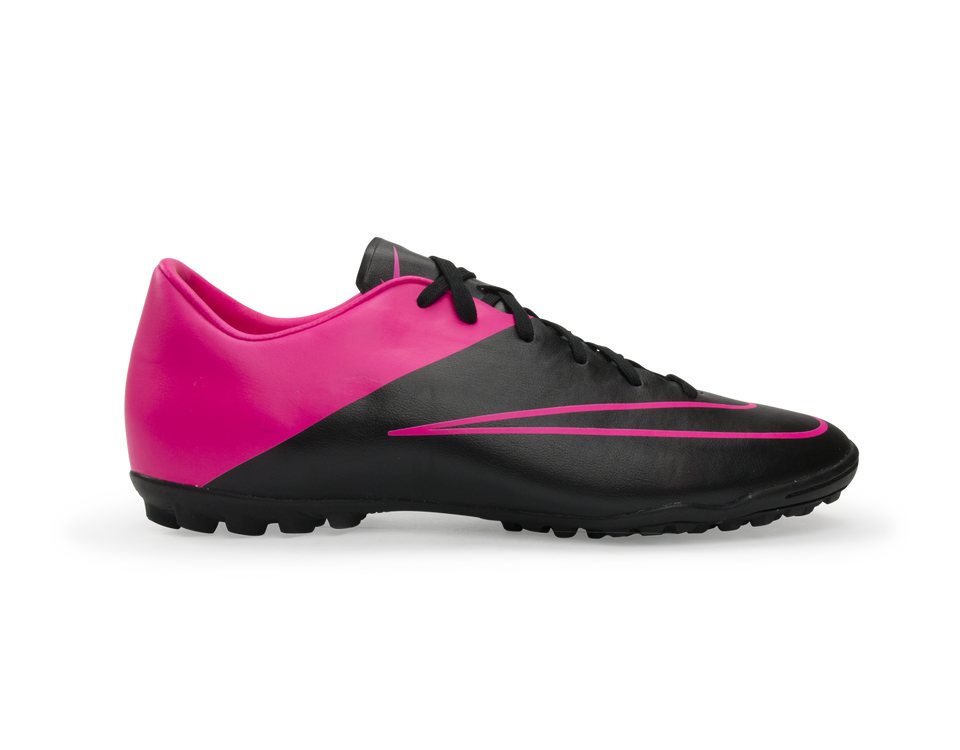 Nike Men's Mercurial Victory V Turf Soccer Shoes Black/Hyper Pink/Pink Pow