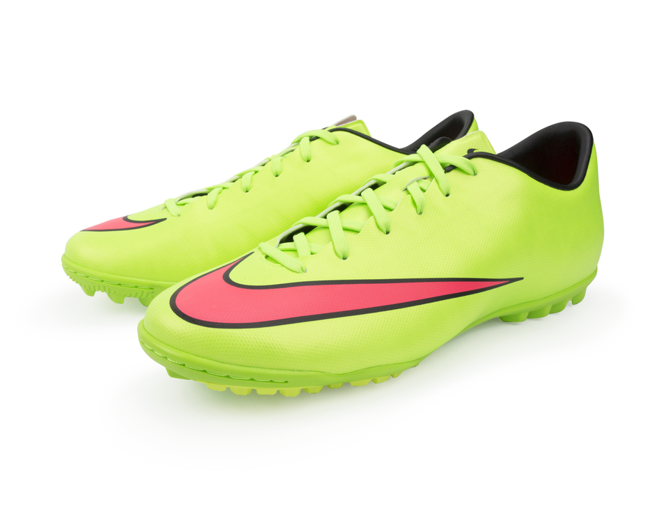 Nike Men's Mercurial Victory V Turf Soccer Shoes Electric Green/Hyper Punch/Black