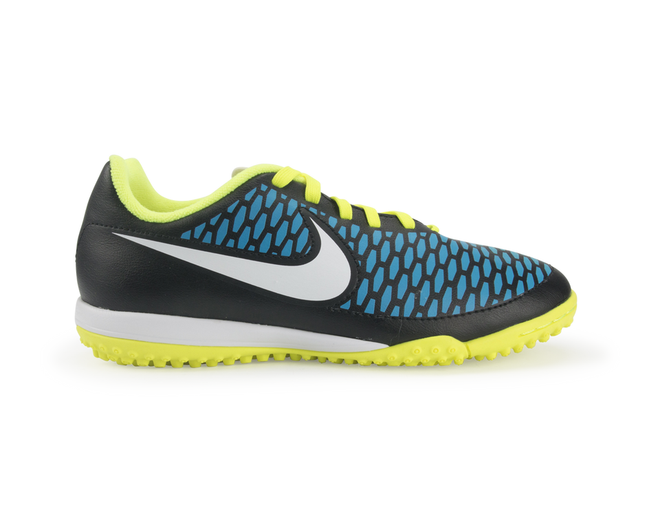 Nike Kids Magista Onda Turf Soccer Shoes Black/Volt/Blue Lagoon