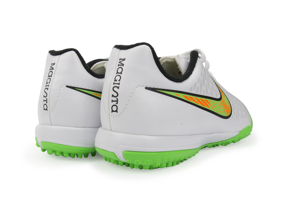 Nike Kids Magista Onda Turf Soccer Shoes White/Poison Green/Black