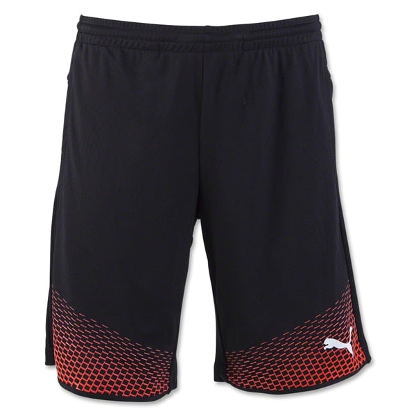 PUMA Men's EvoTrg Touch Shorts PUMA Black/ Red Blast