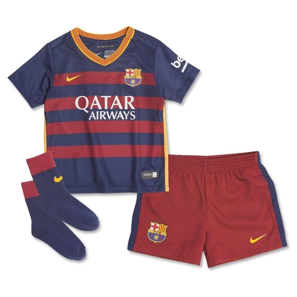 Nike Infants FC Barcelona 15/16 Home Kit Loyal Blue/Storm Red / University Gold