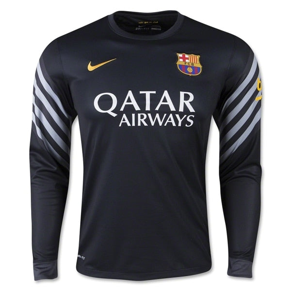 Nike Men's FC Barcelona Home Goalkeeper Stadium Jersey Black/Anthracite/University Gold