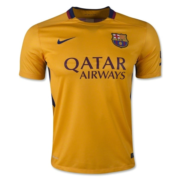 Nike Men's FC Barcelona 15/16 Away Jersey University Gold/Loyal Blue