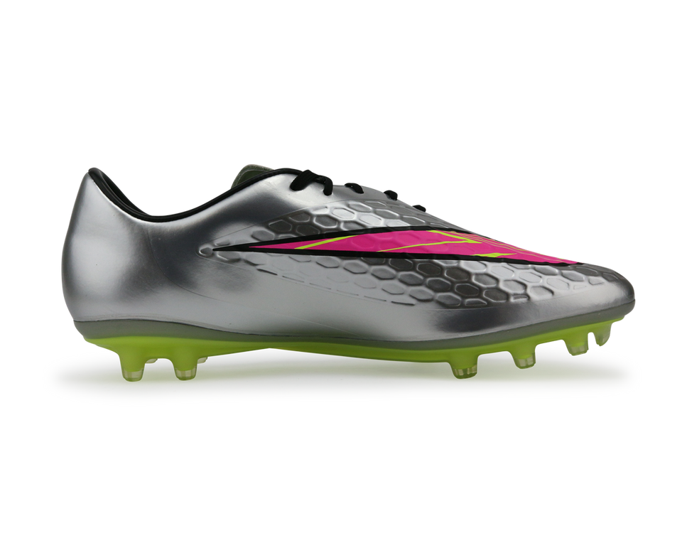Nike Men's Hypervenom Phatal FG Chrome/Hyper Pink/Metallic Gold