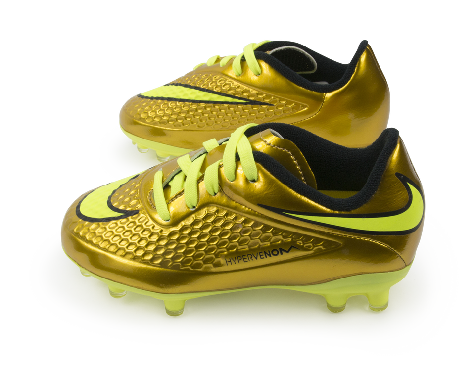 Nike Kids Hypervenom Phelon FG Metallic Gold/Black/Tour Yellow