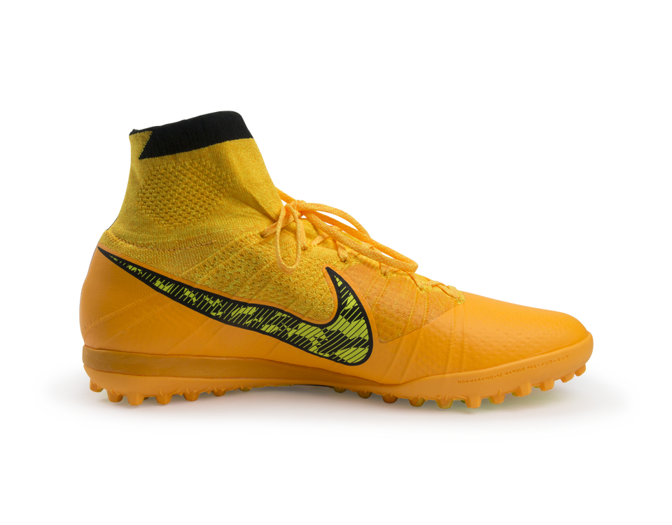Nike Men's Elastico Superfly Turf Soccer Shoes Laser Orange/Black/Tour Yellow