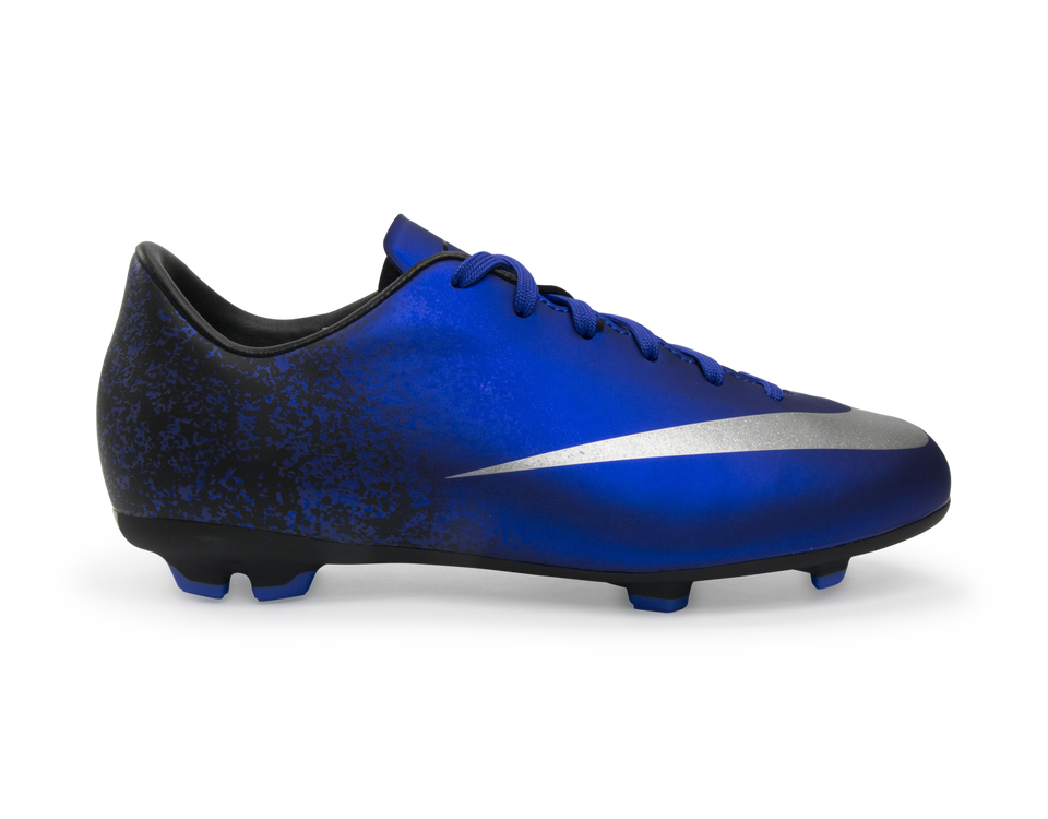 Nike Kids Mercurial Victory V CR7 FG Deep Royal Blue/Metallic Silver