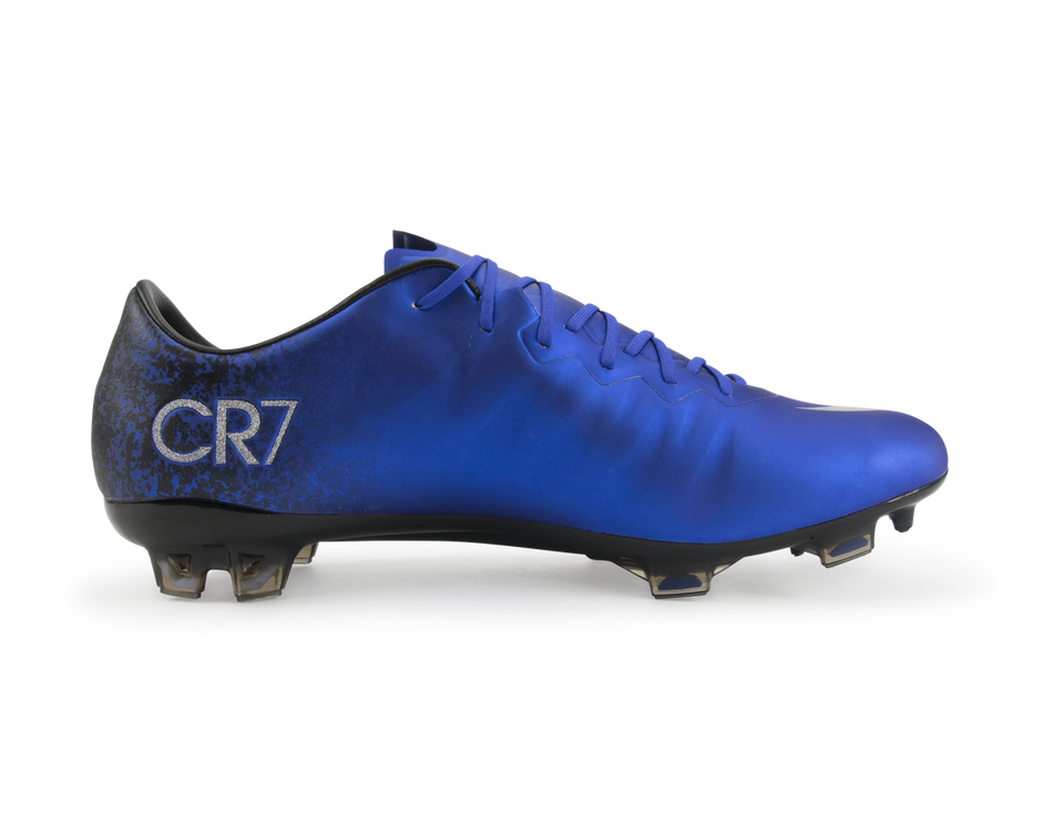 Nike Men's Mercurial Vapor X CR7 FG Deep Royal Blue/Metallic Silver