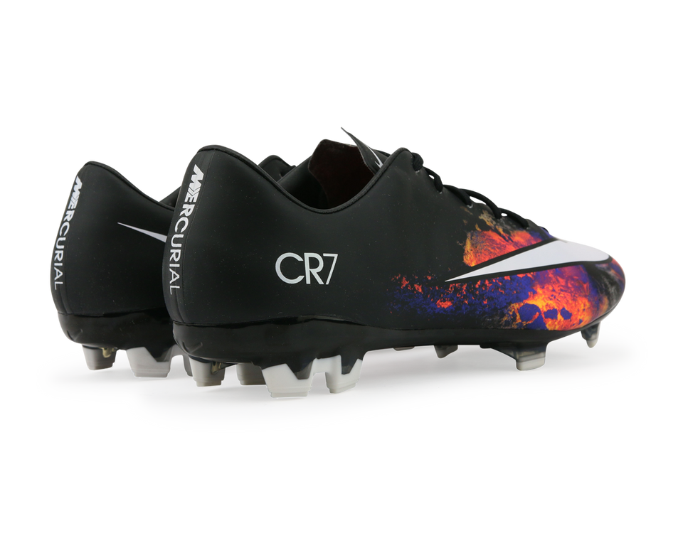 Nike Men's Mercurial Veloce II CR7 FG Black/White/Total Crimson