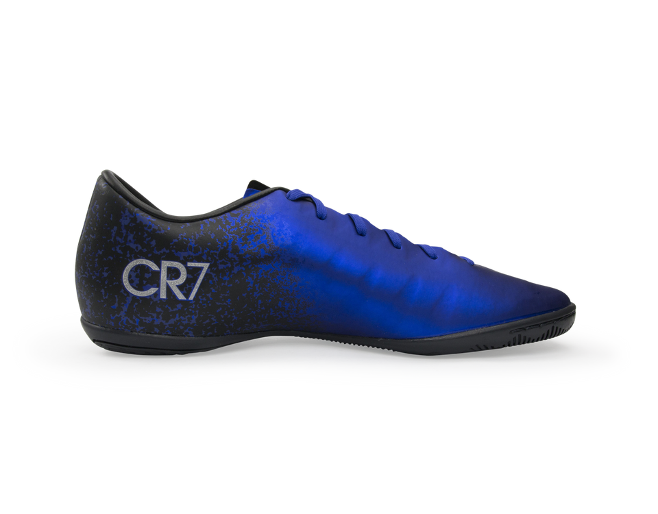 Nike Men's Mercurial Victory V CR7 Indoor Soccer Shoes Deep Royal Blue/Metallic Silver