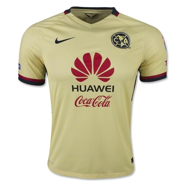 Nike Men's Club America 15/16 Home Jersey Lemon Chiffon/Armory Navy