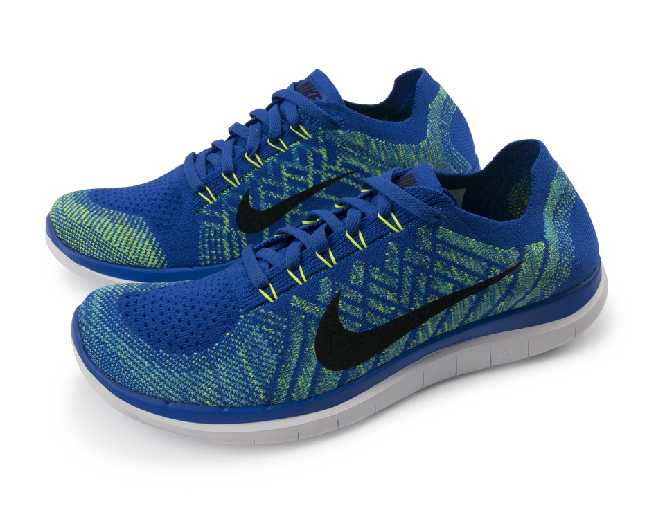 Nike Men's Free 4.0 Flyknit Running Shoes Game Royal/Black/Photo Blue