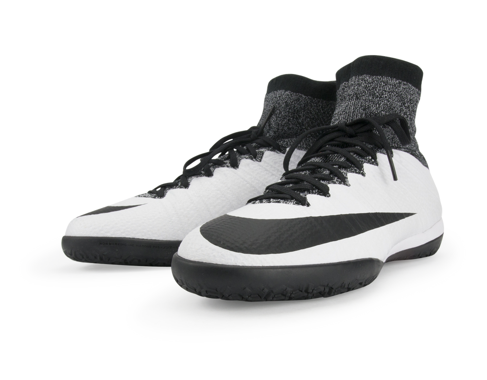 Nike Men's MercurialX Proximo Indoor Soccer Shoes White/Black