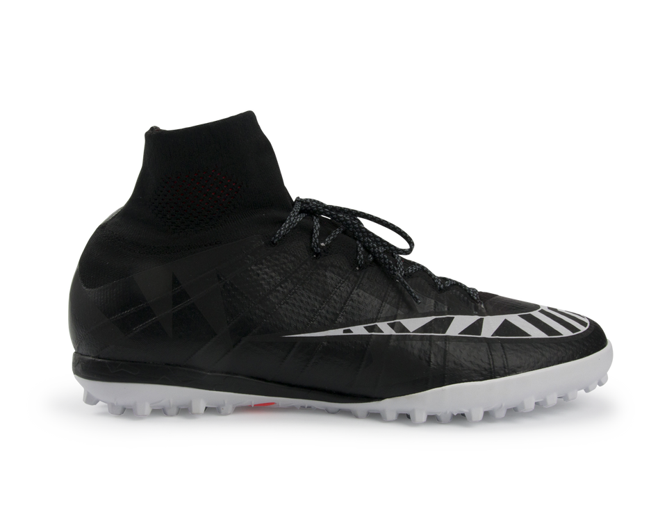 Nike Men's MercurialX Proximo Street Turf Soccer Shoes Black/White/Hot Lava