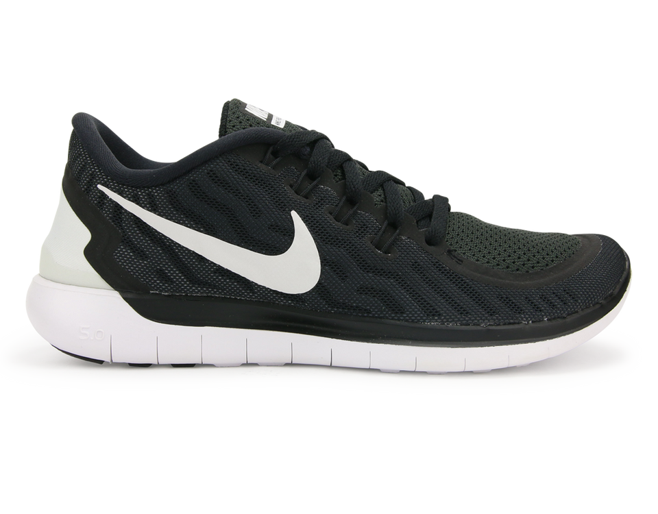 Nike Women's  Free 5.0 Running Shoes Black/White/Dark Grey