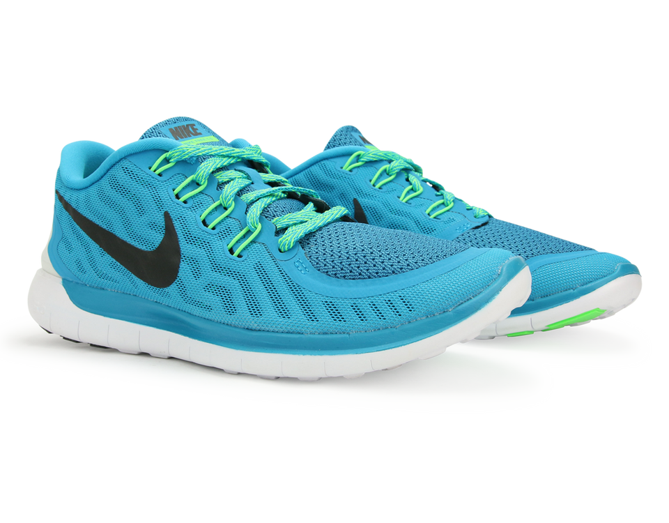 Nike Women's Free 5.0 Running Shoes Blue Lagoon/Black Volt/Green Cp