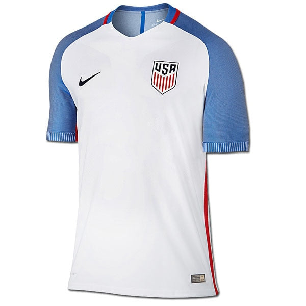 Nike Men's USA 16/17 Home Offical Match Jersey White/Navy