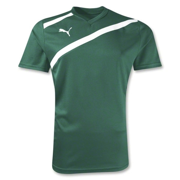 PUMA Women's Esito Training Jersey Forest Green/White