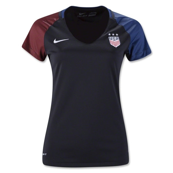 Nike Women's USA 16/17 Away Jersey Black/Game Royal/White