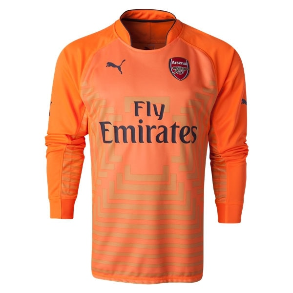 PUMA Men's Arsenal 14/15 Home Long Sleeve Goalkeeper Jersey Orange