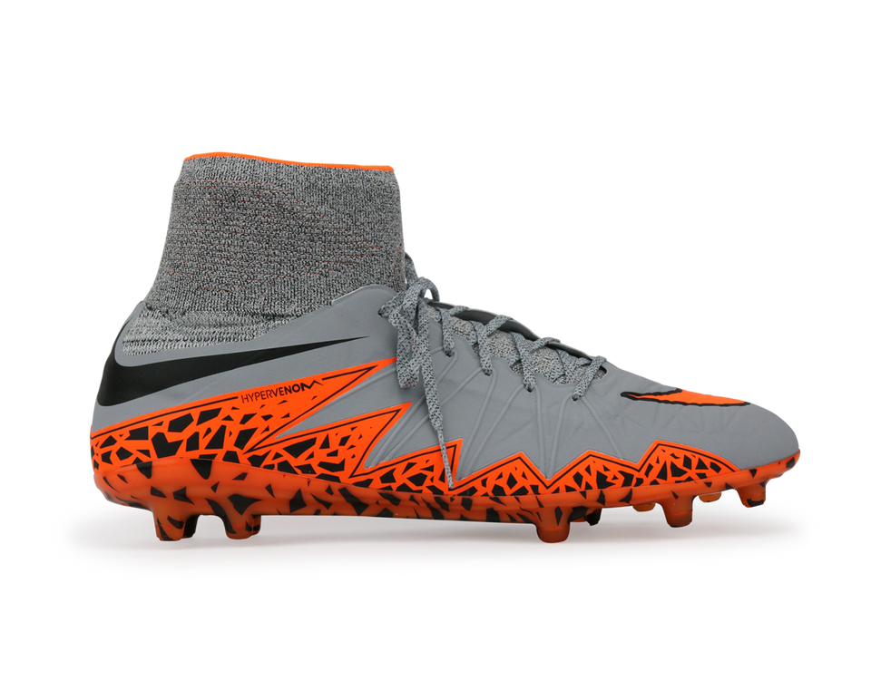 Nike Men's Hypervenom Phantom II FG Wolf Grey/Total Orange/Black