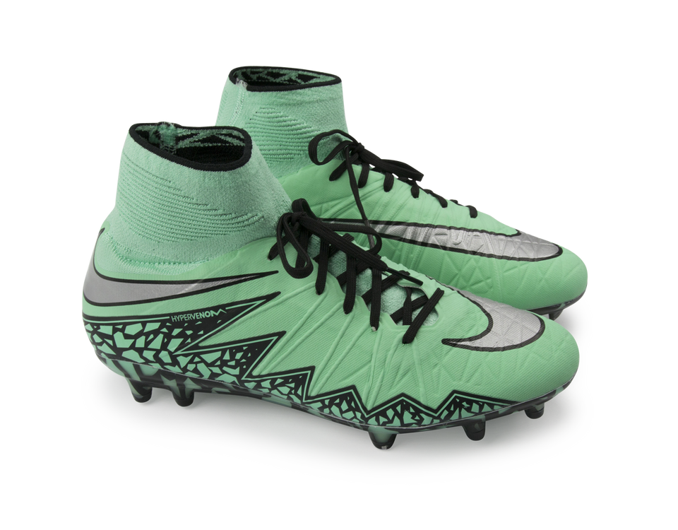 Nike Men's Hypervenom Phantom II FG Green Glow/Metallic Silver/Hyper Orange