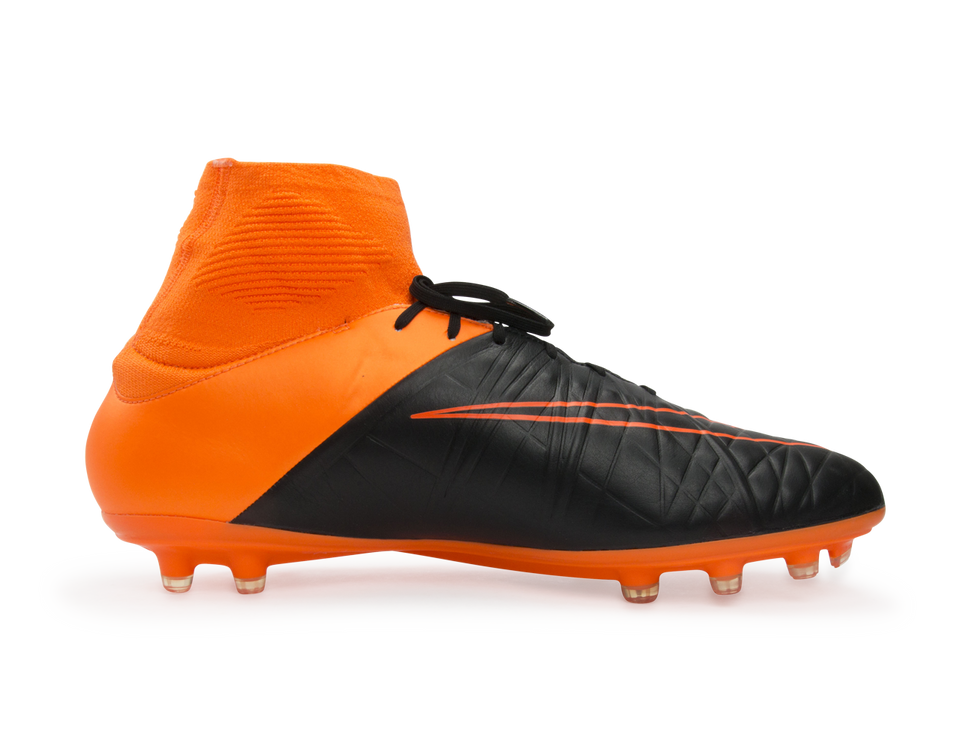 Nike Men's Hypervenom Phatal II Leather FG Black/Total Orange/White