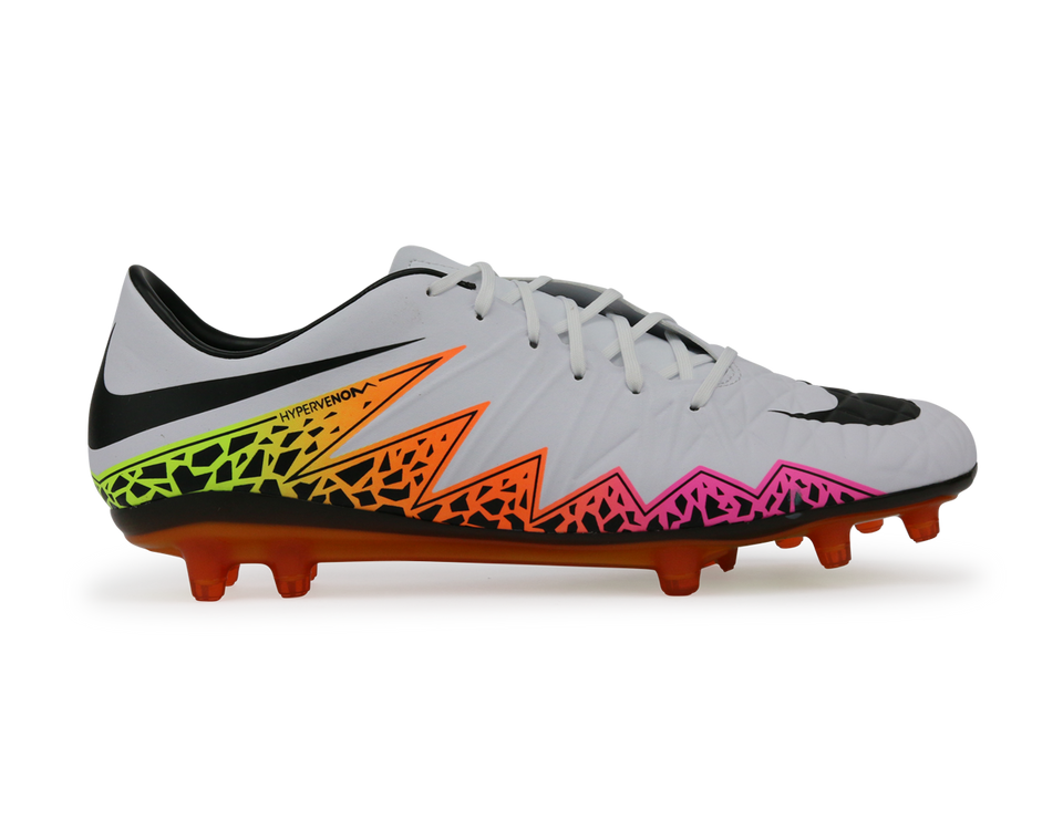 Nike Men's Hypervenom Phatal FG White/Total Orange/Volt/Black