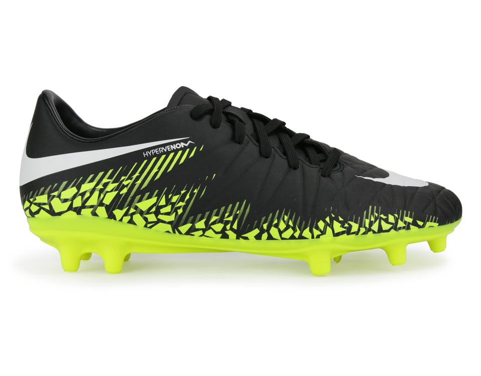 Nike Men's Hypervenom Phelon FG Black/Metallic Hema