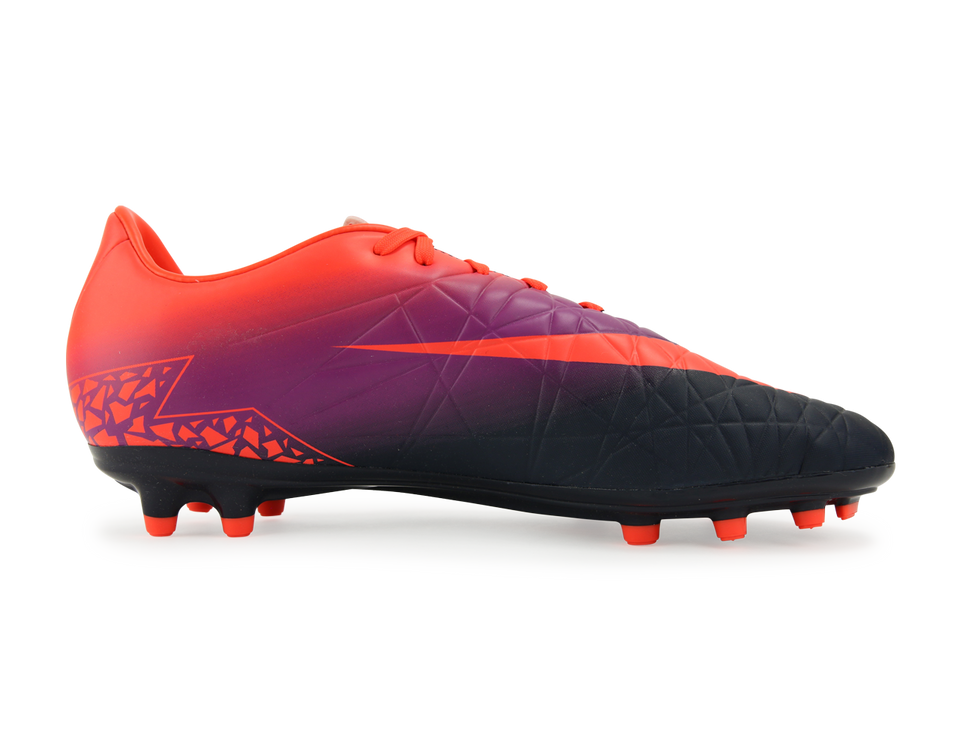 Nike Men's Hypervenom Phelon FG Total Crimson/Obsidian/Vivid Purple