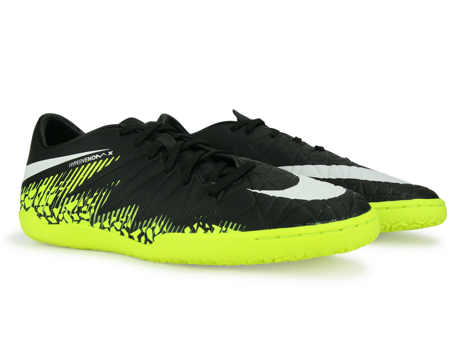 Nike Men's Hypervenom Phelon Indoor Soccer Shoes Black/White/Volt