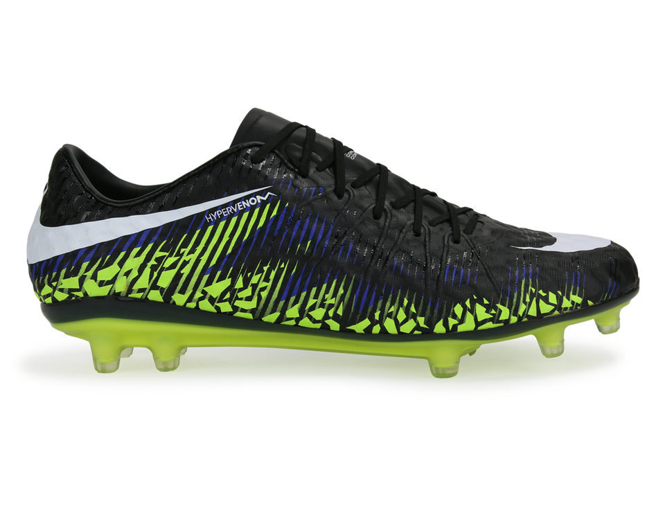 Nike Men's Hypervenom Phinish FG Black/Metalic Hema