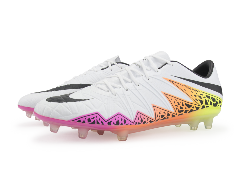Nike Men's Hypervenom Phinish FG White/Black/Total Orange/Volt