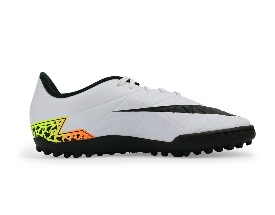 Nike Kids Hypervenom Phelon Turf Soccer Shoes White/Black/Total Orange