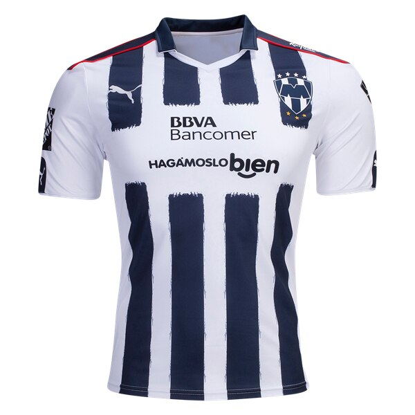 PUMA Men's Monterrey 16/17 Home Jersey White/Navy/Red