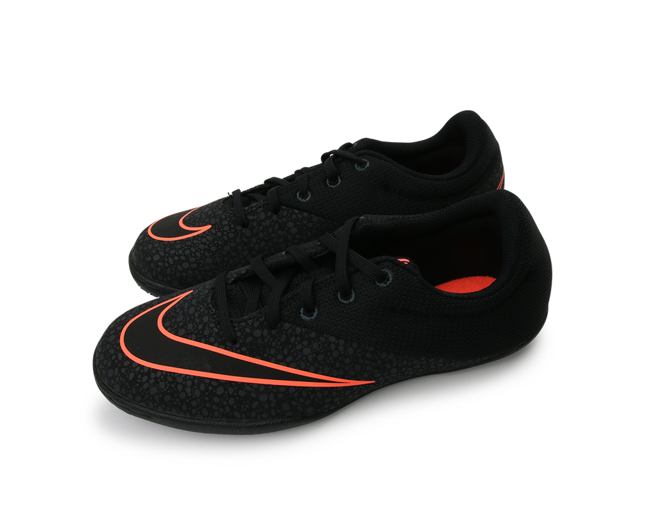 Nike Kids MercurialX Pro Indoor Soccer Shoes Black/Anthracite/Bright Mango