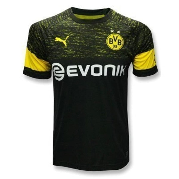 PUMA Men's BVB Dortmund 18/19 Away Jersey Black/Yellow