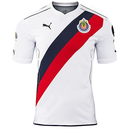 PUMA Men's Chivas 2017 Away Jersey White/Red/Navy
