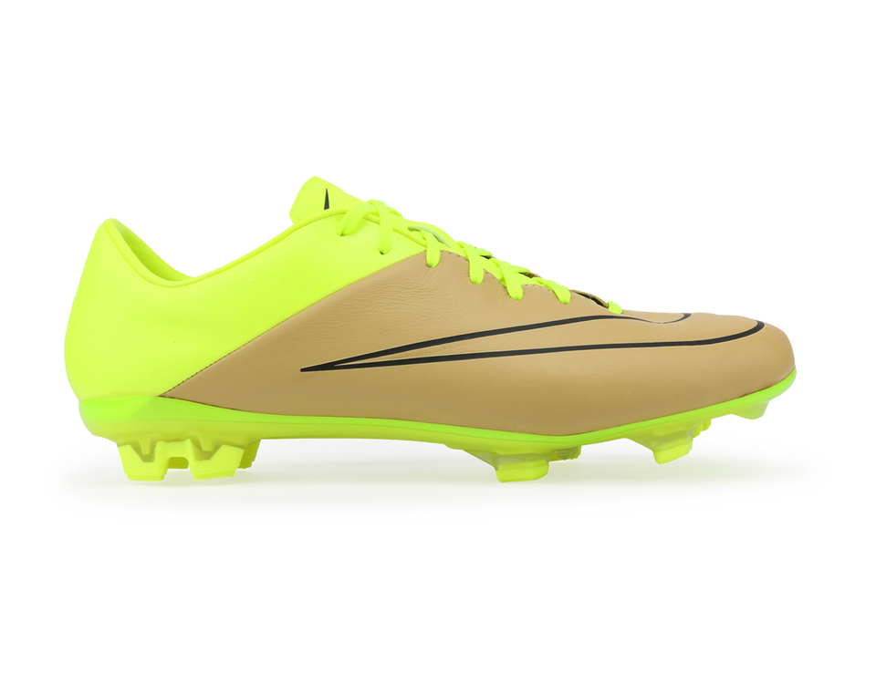 Nike Men's Mercurial Veloce II Leather FG Canvas/Black/Volt