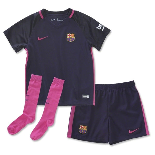 Nike Toddlers FC Barcelona 16/17 Away Jersey Purple Dynasty/Black/Vivid Pink