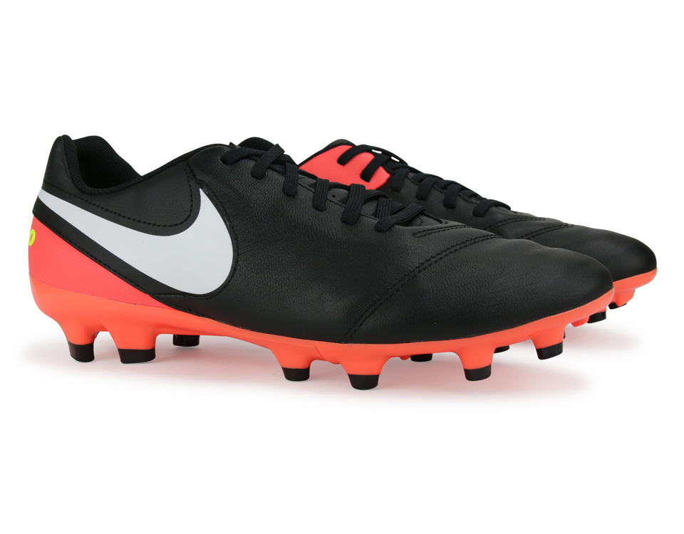 Nike Men's Tiempo Genio II FG Black/White/Hyper Orange/Volt