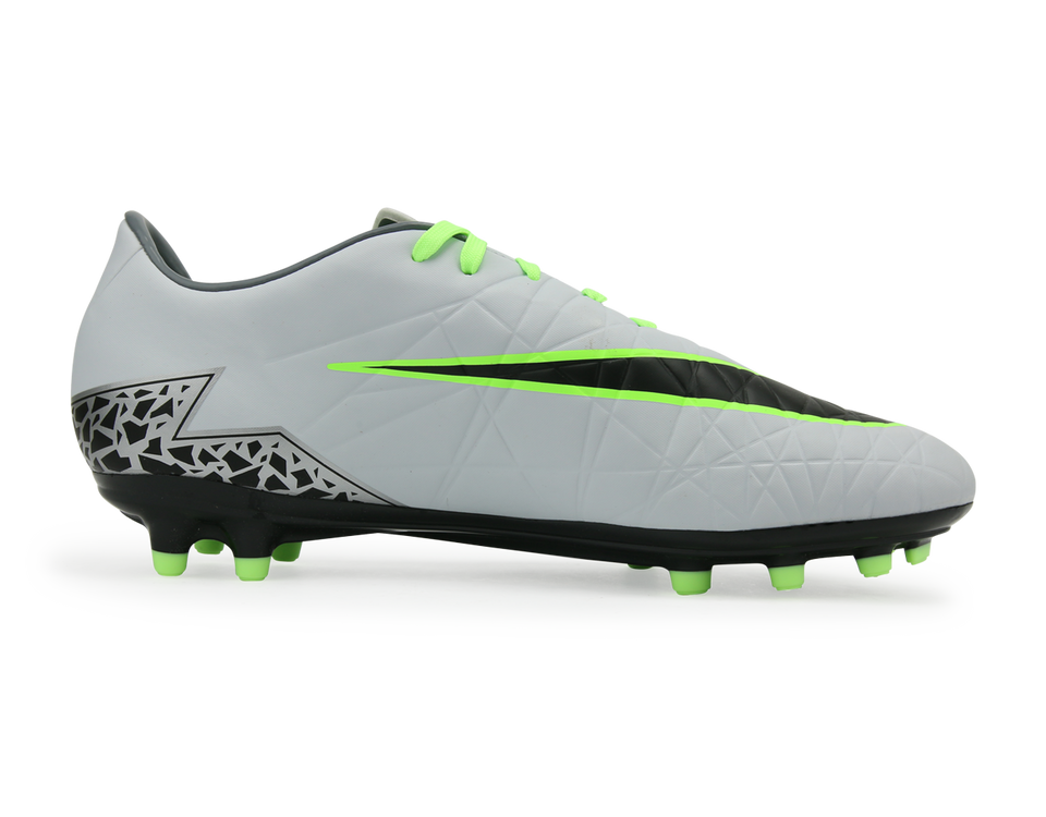 Nike Men's Hypervenom Phelon II FG Pure Platinum/Black/Ghost Green