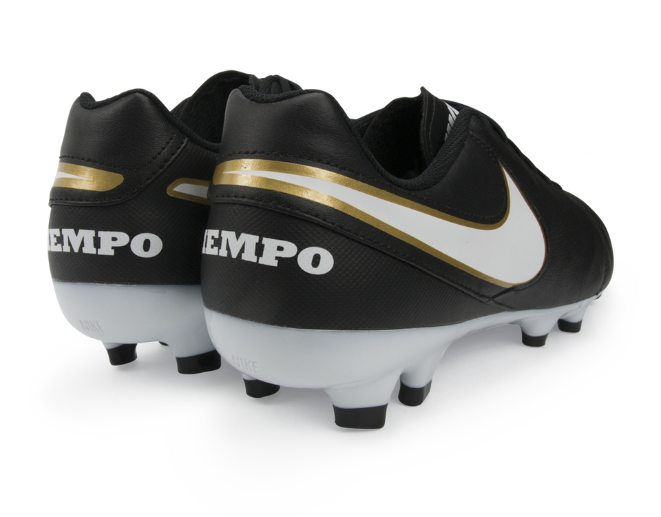 Nike Men's Tiempo Genio II Leather FG Black/White/Metallic Gold