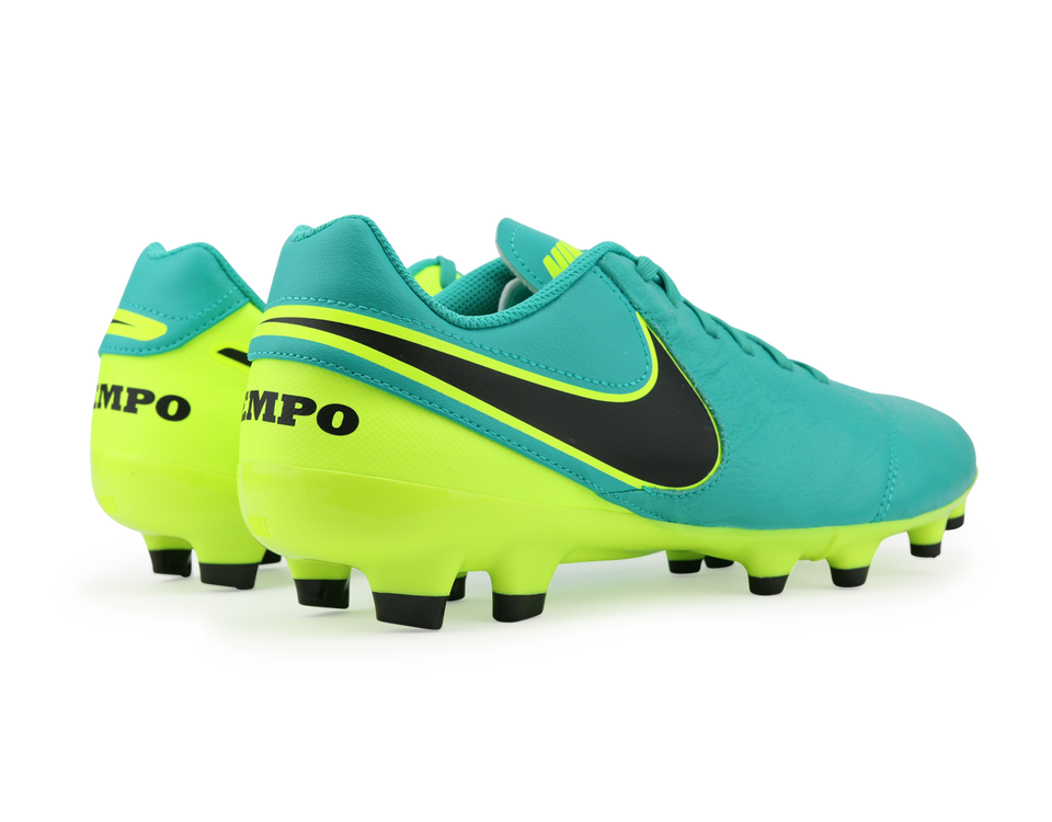 Nike Men's Tiempo Genio Leather FG Clear Jade/Black/Volt