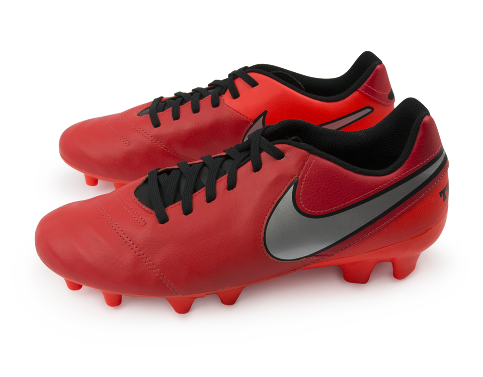 Nike Men's Tiempo Genio Leather FG Light Crimson/Metallic Silver/Total Crimson