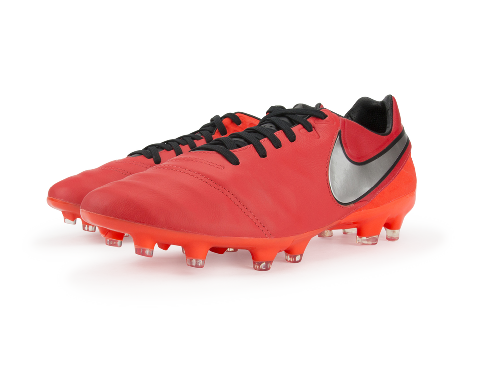 Nike Men's Tiempo Legacy II FG Light Crimson/Metallic Silver/Total Crimson