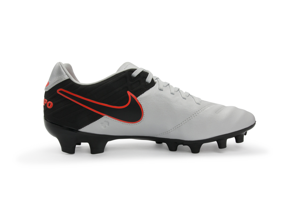 Nike Men's Tiempo Mystic V FG Pure Platinum/Black/Hyper Orange