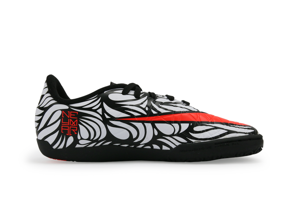 Nike Kids Hypervenom Phelon II NJR Indoor Soccer Shoes Black/Bright Crimson/White